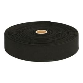 Bandelastiek van zachte kwaliteit / Zwart / 40 mm breed