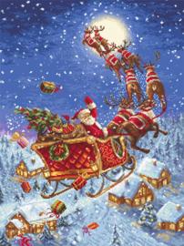 Borduurpakket The Reindeers on its Way! - Leti Stitch    leti-0958