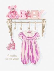 Borduurpakket Baby Girl Birth - Luca-S    ls-b1175