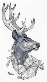 Borduurpakket Geometry - Deer - PANNA    pan-7128-j