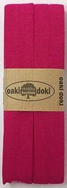 Oaki Doki Tricot de Luxe  / Jersey Biaisband / Fuchsia 917