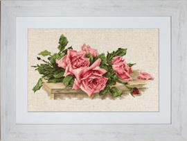 Borduurpakket Pink Roses - Luca-S    ls-bl22400
