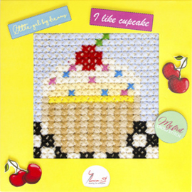 Borduurpakket My First Embroidery - Cupcake - Luca-S    ls-x011