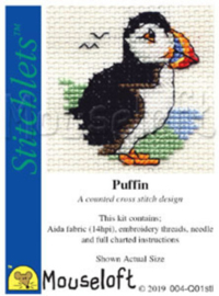 Borduurpakket Puffin - Mouseloft    ml-004-q01