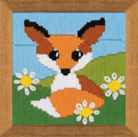 Borduurpakket Fox in Daisies - RIOLIS    ri-1714