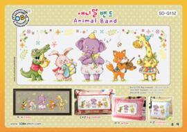 Borduurpakket Animal Band - The Stitch Company    tsck-sog152