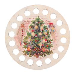 Garenhouder multiplex - Rond opdruk Kerst - RTO    rto-dz31016