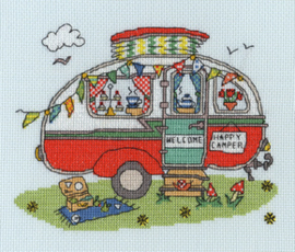 Borduurpakket Sew Dinky - Caravan - Bothy Threads    bt-xsd08
