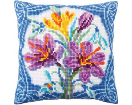 Kussen borduurpakket Crocus - Collection d'Art    cda-5288