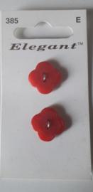 Knopen Elegant rood (385)