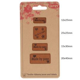 Skai-leren Labels Made by Papa / 69650-07