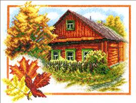 Borduurpakket Autumn House - PANNA    pan-0314-ps