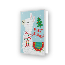Diamond Dotz Greeting Card Merry Christmas Llama - Needleart World    nw-ddg-003