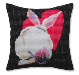 Kussen borduurpakket Love - Collection d'Art    cda-5381