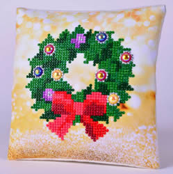 Diamond Dotz Christmas Wreath Kussentje - Needleart World    nw-ddp02-037