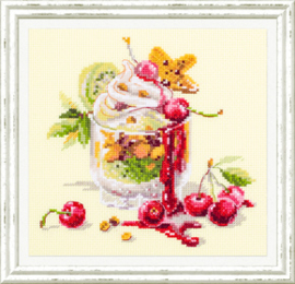 Borduurpakket Cherry Dessert - Chudo Igla    ci-120-081