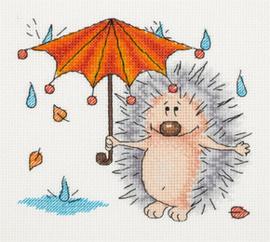 Borduurpakket Autumn Hedgehog - PANNA    pan-08-0222