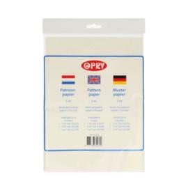 OPRY Patroonpapier / 3M2 / Transparant