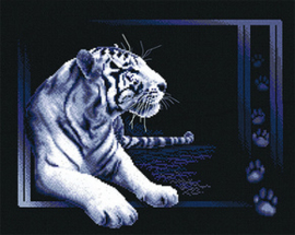 Borduurpakket White Tiger - PANNA    pan-0277-j