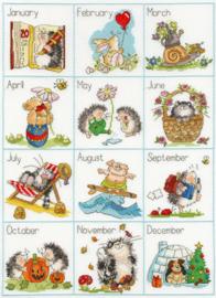 Borduurpakket Margaret Sherry - Calendar Creatures - Bothy Threads    bt-xms15