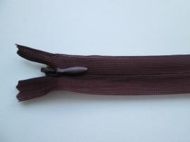 YKK Blinde ritsen 22, 40 en 60 cm.  Wijn Rood  /  021
