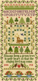 Borduurpakket Moira Blackburn - Green Tree - Bothy Threads    bt-xs02