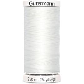 Gutermann naaigaren 250 meter - 800 Wit