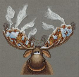 Borduurpakket Christmas Moose - PANNA    pan-7103-zm