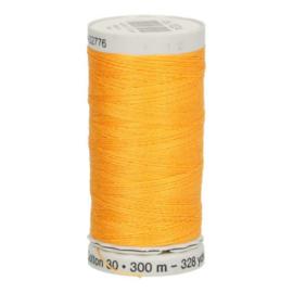 Gutermann naaigaren cotton 30 / 300 meter  1024 / geel oranje
