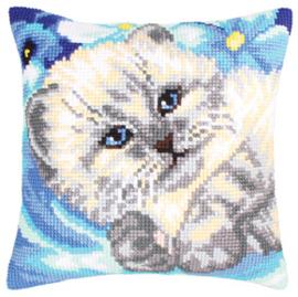 Kussen borduurpakket Cute Kitten - Collection d'Art    cda-5202