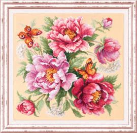 Borduurpakket Flower Magic - Peonies - Chudo Igla    ci-140-001