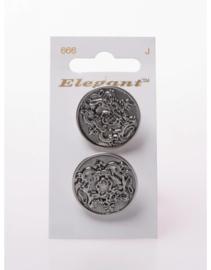 Knopen Elegant - Zilver / 666