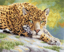 Borduurpakket Peaceful Jaguar - Leti Stitch    leti-0920