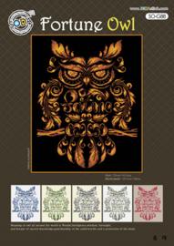 Borduurpakket Fortune Owl - The Stitch Company    tsck-sog088