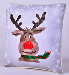 Diamond Dotz Christmas Reindeer Kussentje - Needleart World    nw-ddp02-028