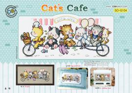 Borduurpakket Cat's Cafe - The Stitch Company    tsck-sog104
