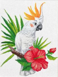 Voorbedrukt borduurpakket Cockatoo call - Needleart World    nw-nc440-099