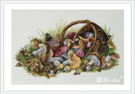 Borduurpakket Mushrooms - Merejka    mer-k127