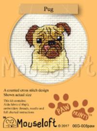 Borduurpakket Pug - Mouseloft    ml-00g-008