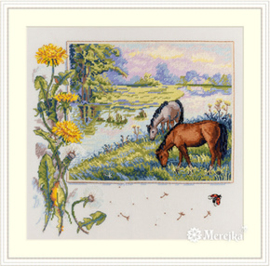 Borduurpakket Horses - Merejka    mer-k139