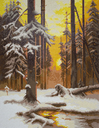 Diamond Painting Forest at Sunset - Freyja Crystal    fc-alvr-039-043