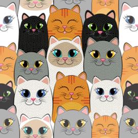 Diamond Dotz Cat Clan - Needleart World    nw-dbx-020