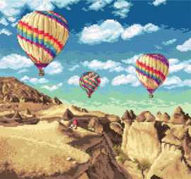 Borduurpakket Balloons over Grand Canyon - Leti Stitch    leti-0961