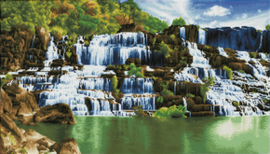 Diamond Dotz Pongour Waterfall - Needleart World    nw-dd14-004