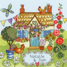 Borduurpakket Julia Rigby - Our House - Bothy Threads    bt-xjr37