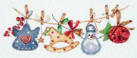 Borduurpakket Christmas Garland - PANNA    pan-7085-pr