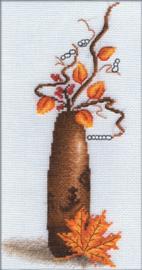 Borduurpakket Yellow Leaf - PANNA    pan-0496-v