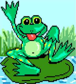 Voorbedrukt Aida Frog - Matryonin Posad    mp-0269