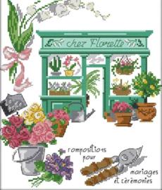 Cross Stitch / Flower shop