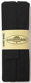 Oaki Doki Tricot de Luxe  / Jersey Biaisband / Zwart 100